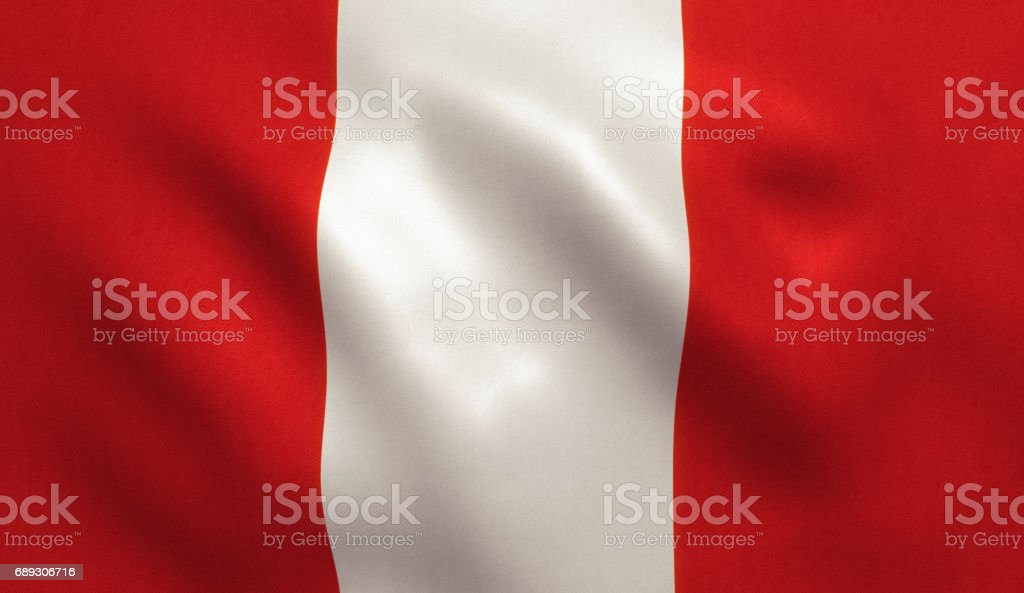 Peru Flag vector art illustration