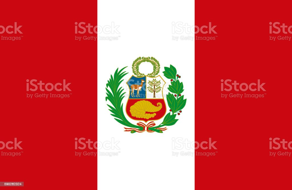 Peruvian flag vector art illustration