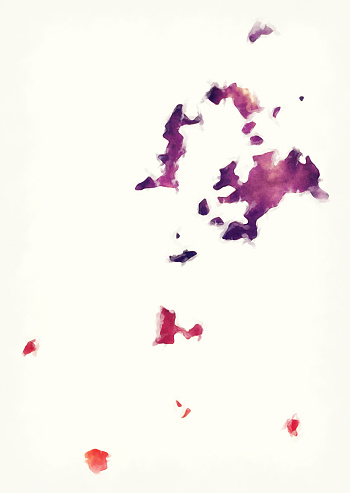 Pescadores Islands watercolor map of Taiwan in front of a white background