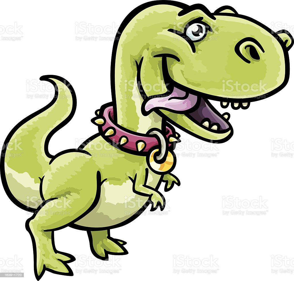 Pet T-Rex vector art illustration