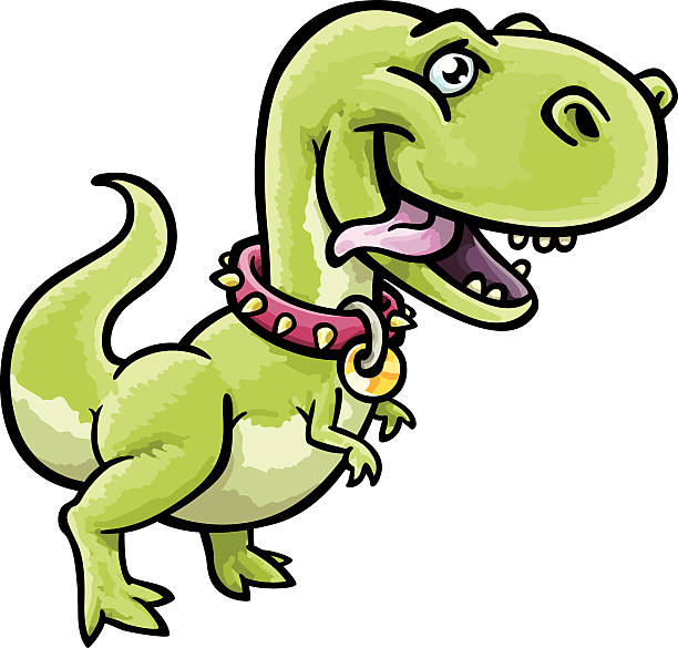 Pet T-Rex vector art illustration