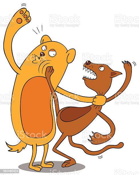Pets fighting illustration id164480424?b=1&k=6&m=164480424&s=612x612&h=dax8gckdbj8znixi0f 0o02m8h4pu 08qxi0tt9nyws=