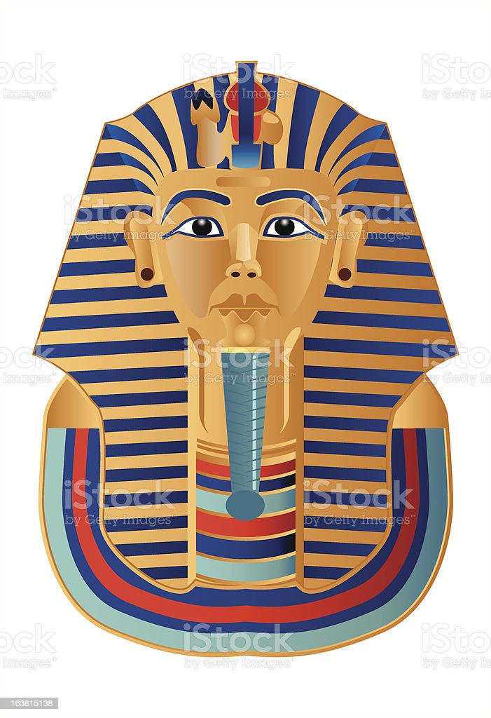 Pharaoh Tutankhamun vector art illustration