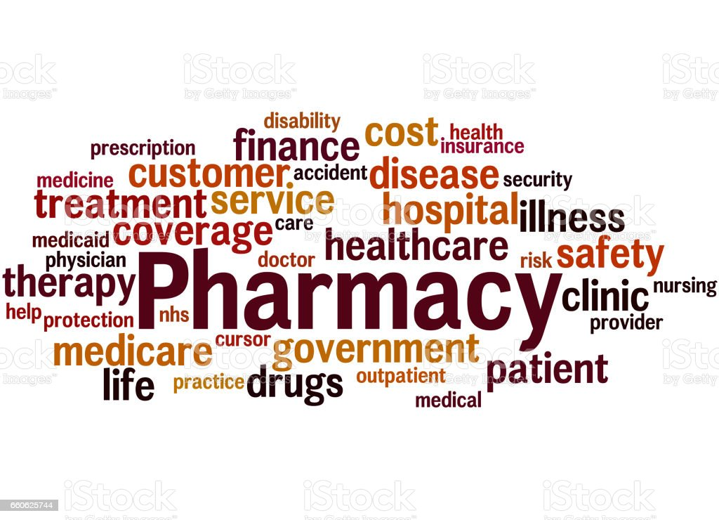 Pharmacy, word cloud concept 9 royalty-free pharmacy word cloud concept 9 stock vector art & more images of care