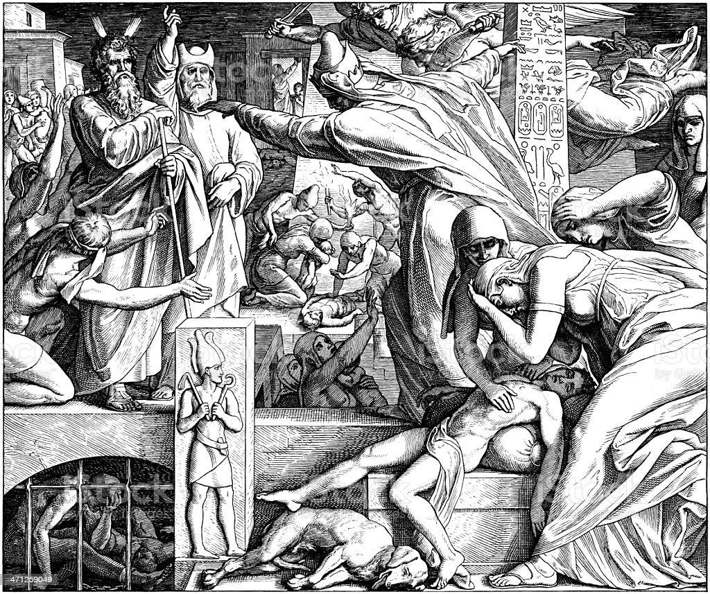Pharoah Lets Israelites Go royalty-free stock vector art