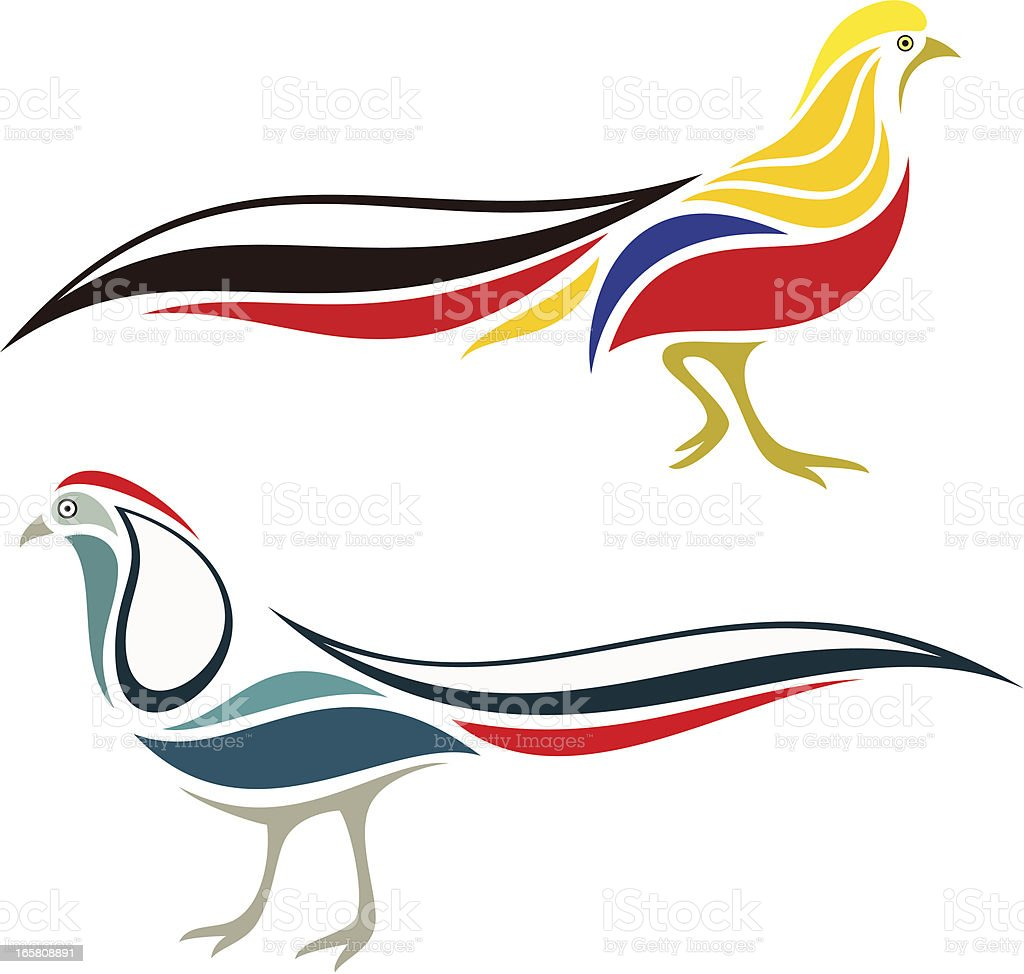 royalty free golden pheasant clip art vector images illustrations rh istockphoto com pheasants clipart pheasants clipart