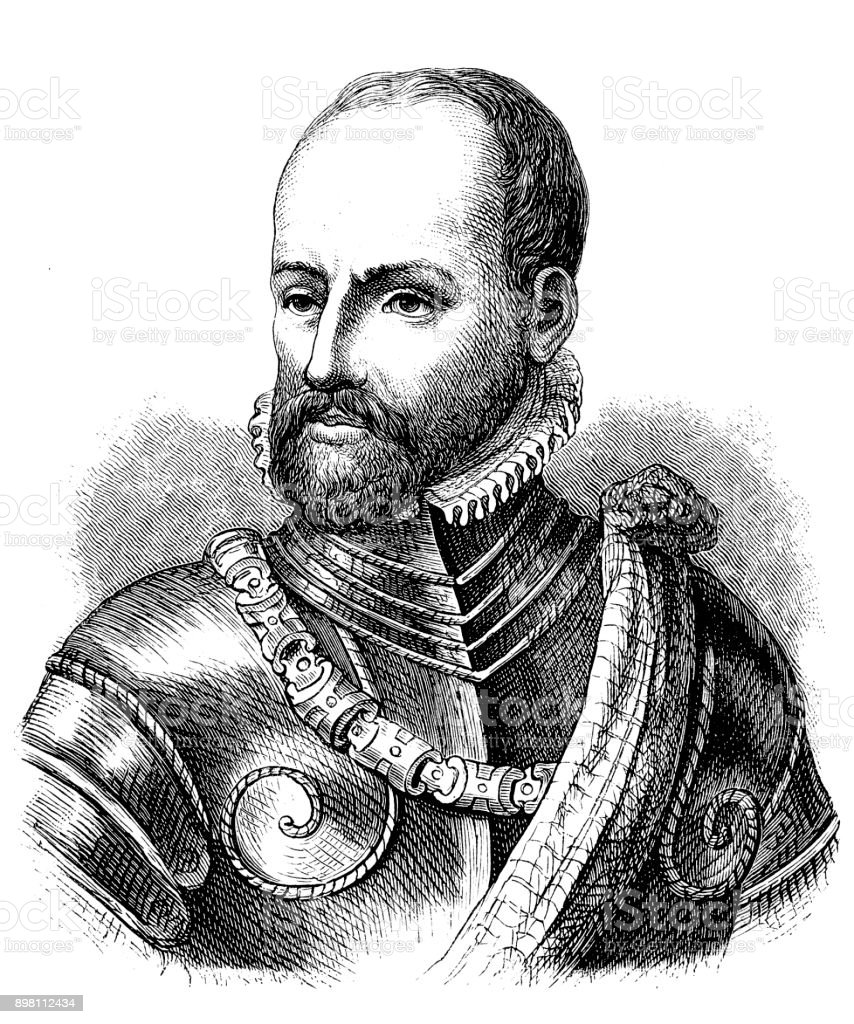 Philip de Montmorency, Count of Horn, 1518 - 1568, Dutch admiral, freedom fighter, knight of the Order of the Golden Fleece vector art illustration