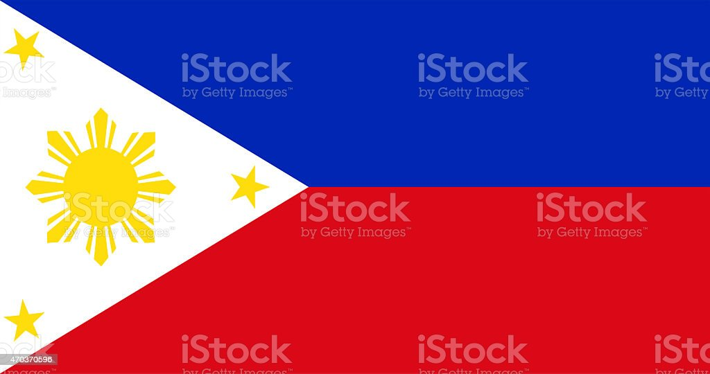 Philippines flag vector art illustration