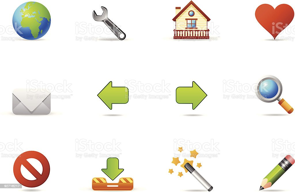 Philos icons - set 2 | Internet and Blogging vector art illustration