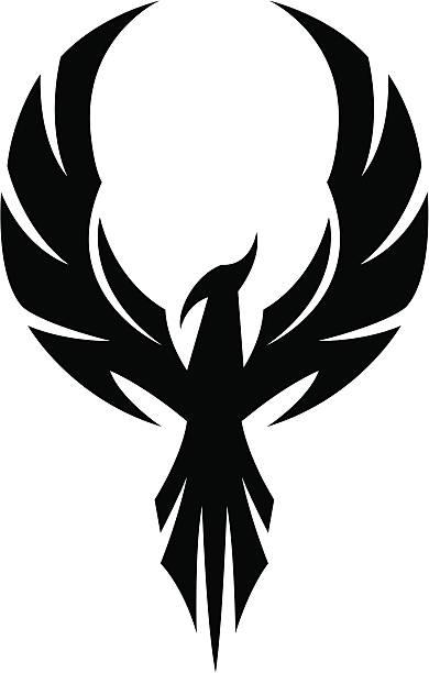 ilustraciones, imágenes clip art, dibujos animados e iconos de stock de de phoenix - tatuajes de alas