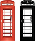 'An old fashioned British phone box, increasingly rare now, comes in 2 versions, full color on 4 layers with color fills and outline keylines(the window area is cut out)  and a mono version on 1 layer with all white areas cut out, thus making a simpler image.'