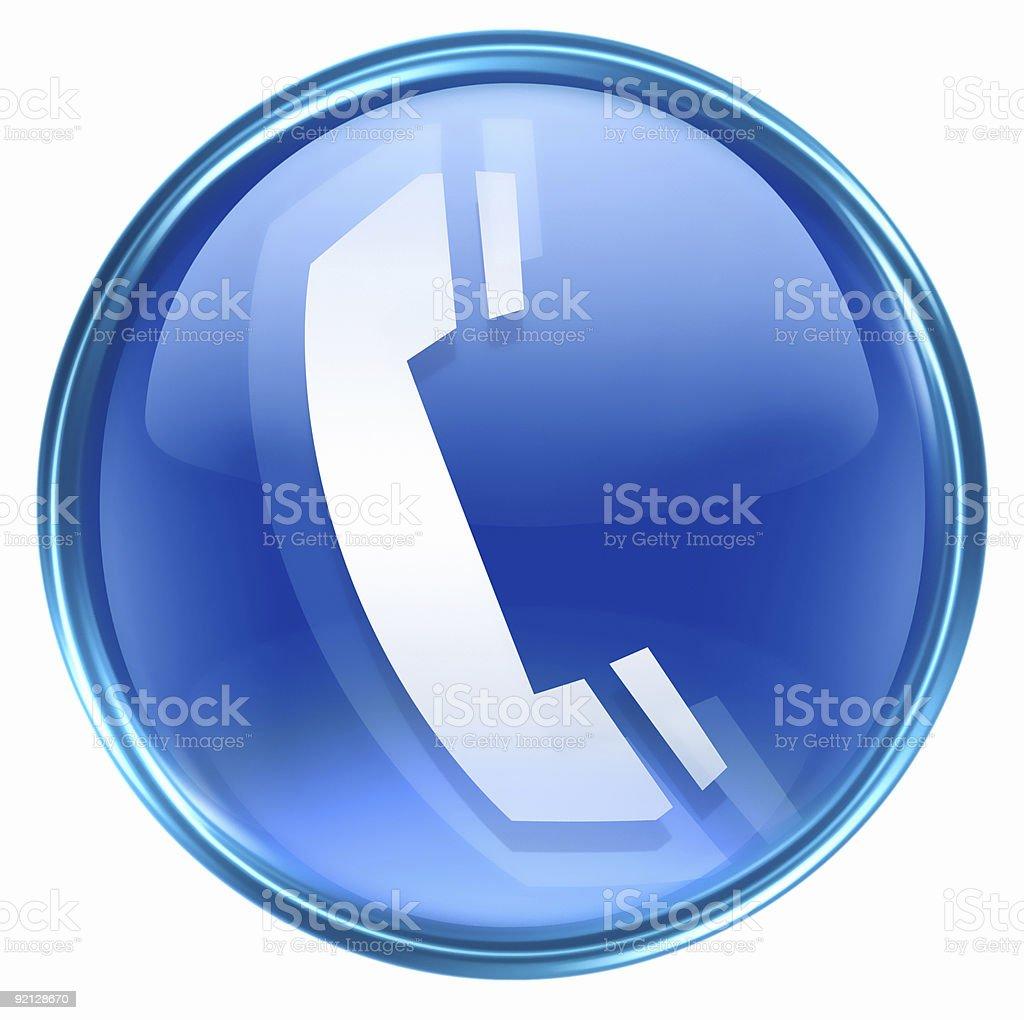 Telefono Sullicona Blu Isolato Su Sfondo Bianco Immagini