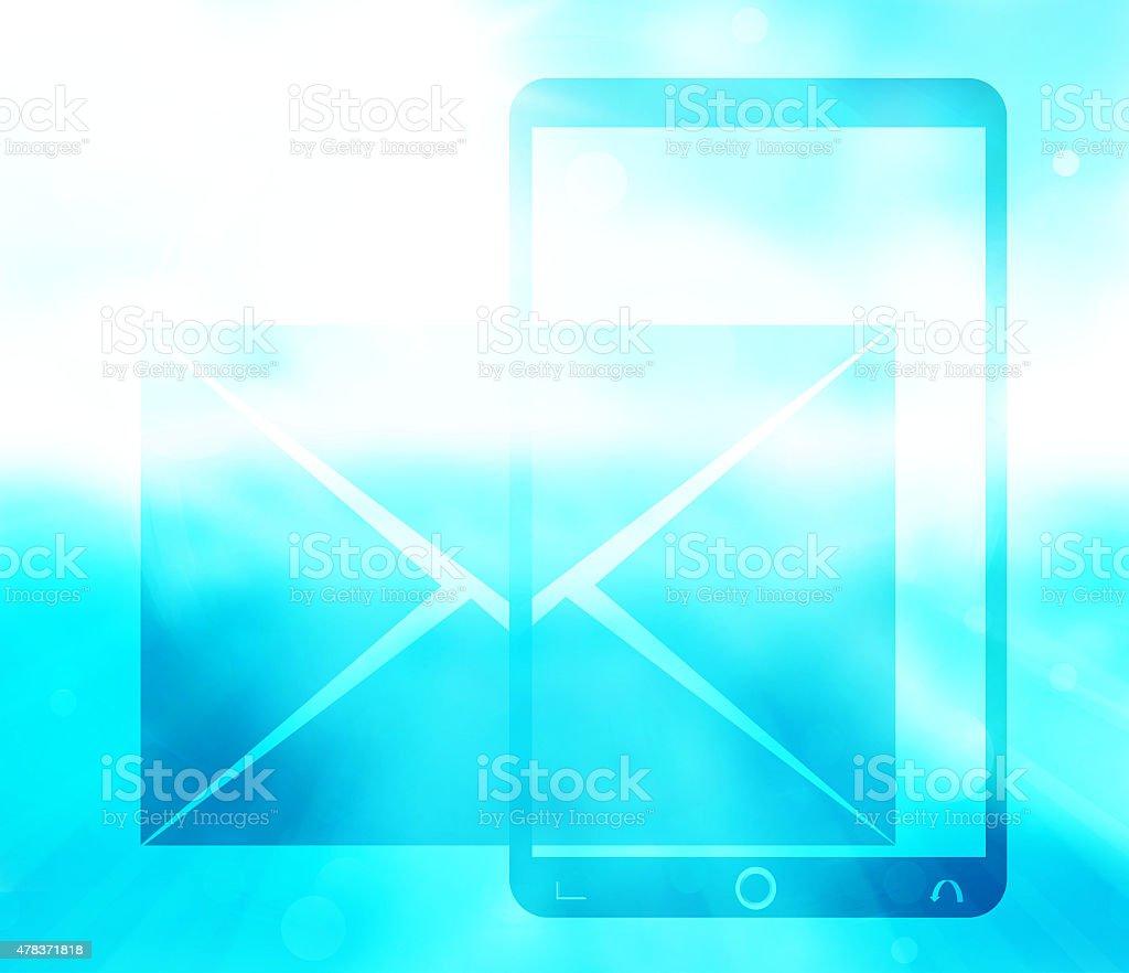 Telefono Del Sole Sfondo Blu Immagini Vettoriali Stock E Altre