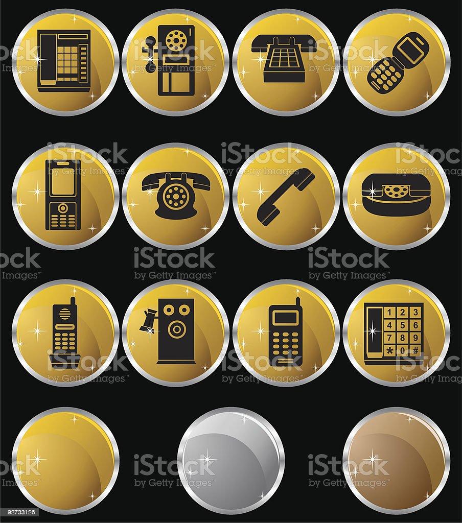 Phone Metal Set royalty-free stock vector art
