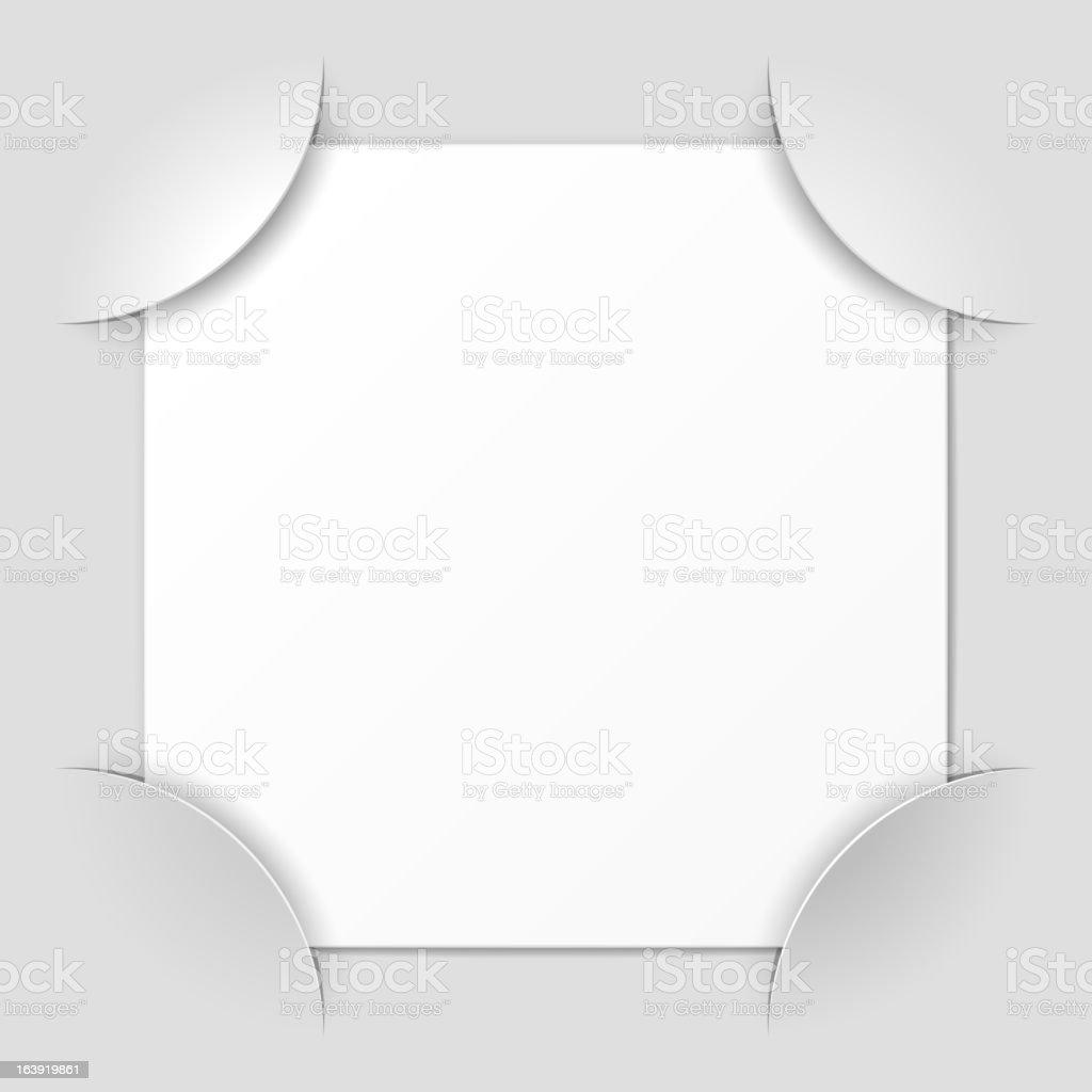 Photo frame corners vector art illustration