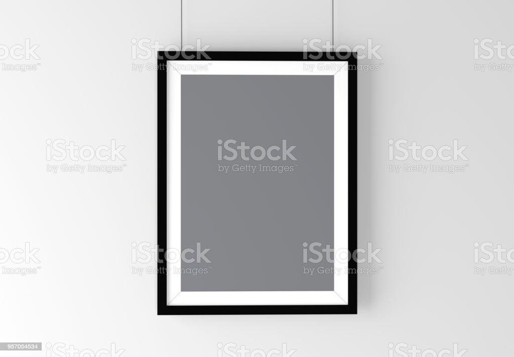 Photo Frame Mockup High Resolution 3d Render Personal Branding Template Royalty