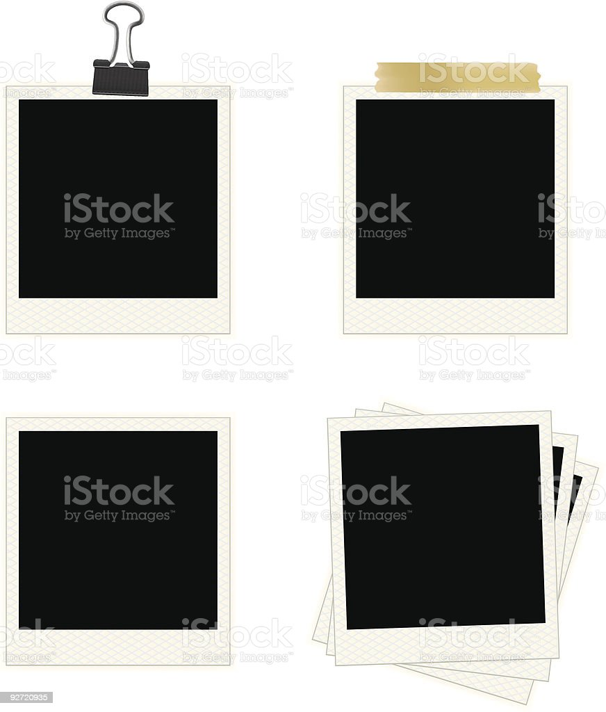 Photo Frames Collection royalty-free stock vector art