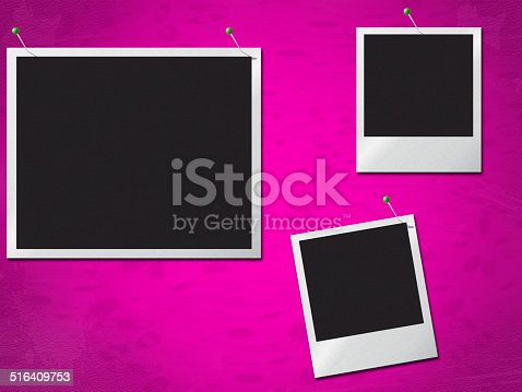 Photo Frames Showing Text Space And Photograph