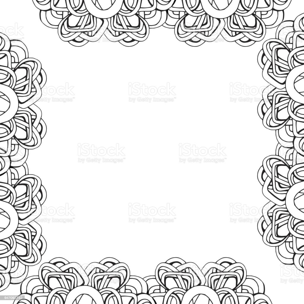 Photo Or Text Frame Graphic Linear Picture Frames Stock Vector Art ...