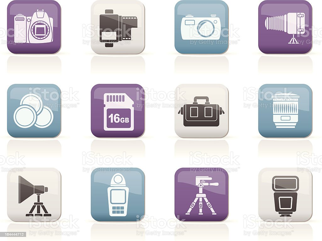 Photography equipment and tools icons royalty-free photography equipment and tools icons stock vector art & more images of arts culture and entertainment