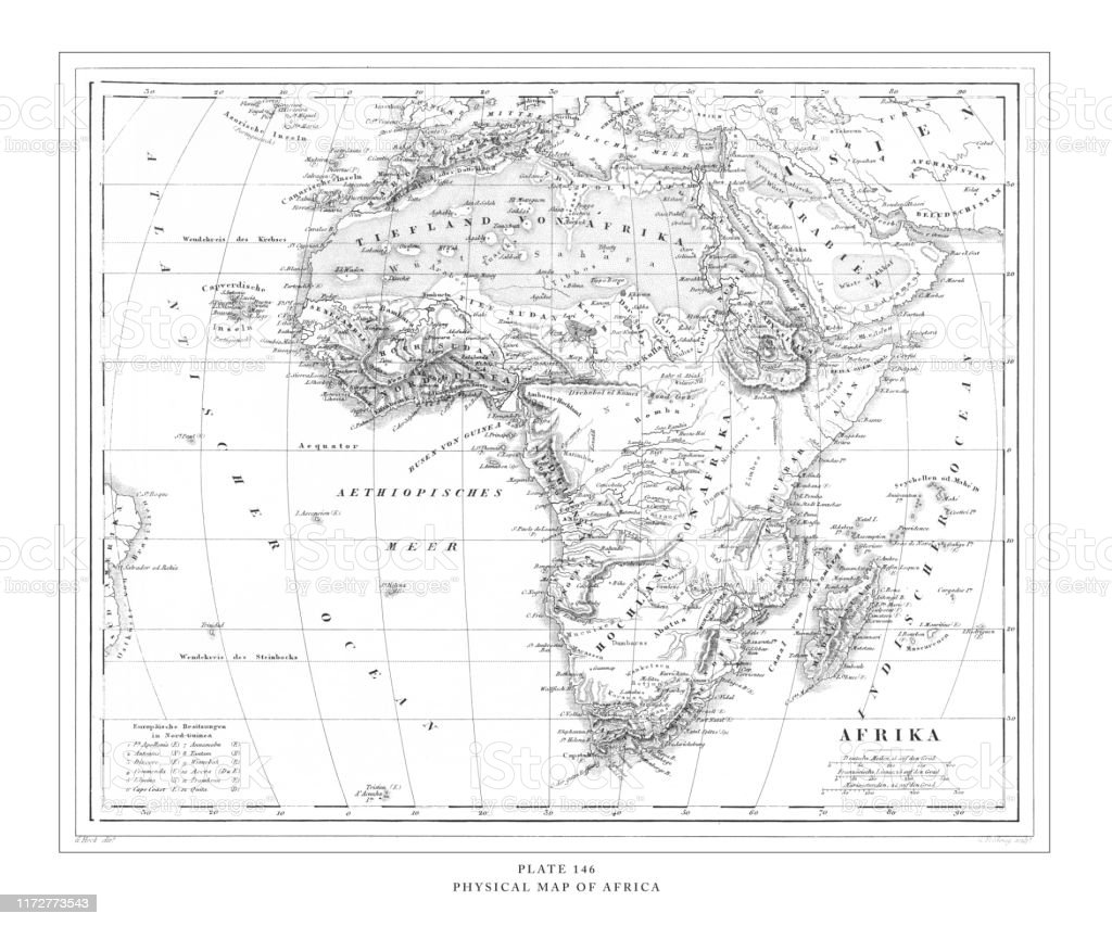 Picture of: Physical Map Of Africa Engraving Antique Illustration Published 1851 Stock Illustration Download Image Now Istock