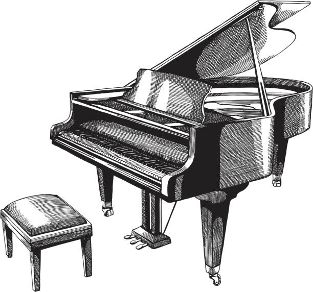 piano - piano stock illustrations