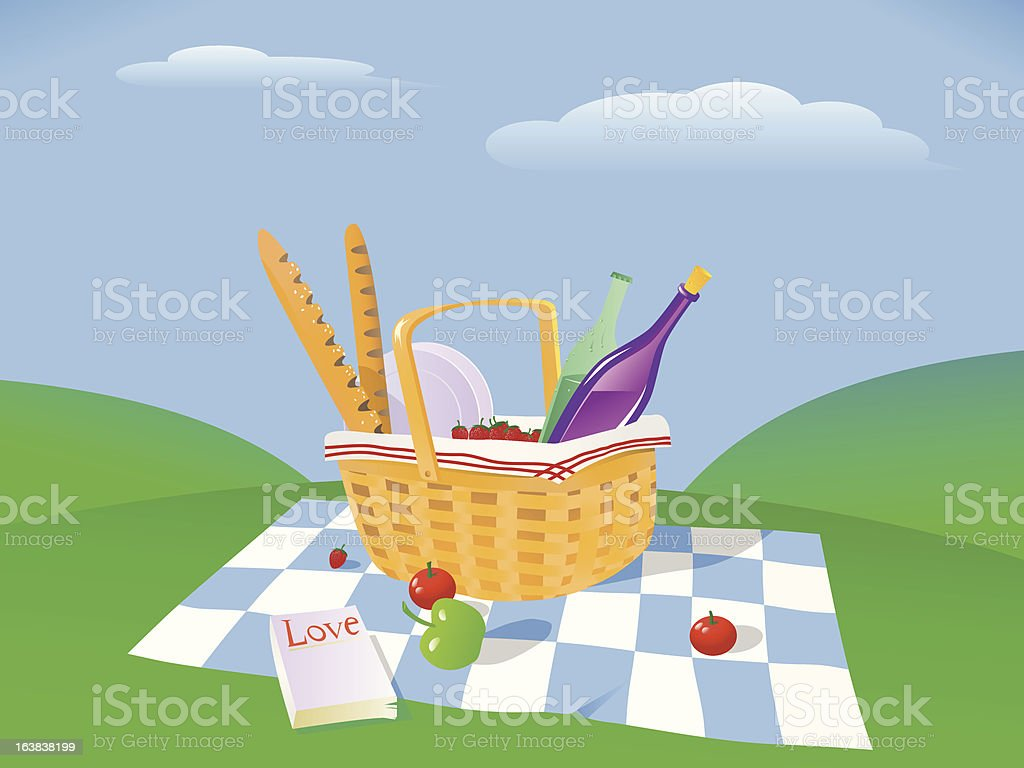 Picnic In the Countryside royalty-free picnic in the countryside stock vector art & more images of apple - fruit