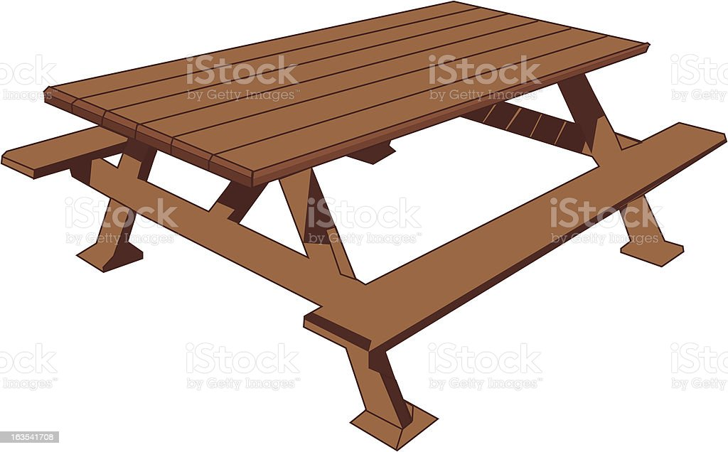 royalty free picnic table clip art vector images illustrations rh istockphoto com picnic table with food clipart picnic table clipart black and white
