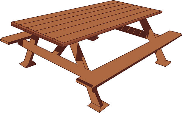 royalty free picnic table clip art vector images illustrations istock. Black Bedroom Furniture Sets. Home Design Ideas