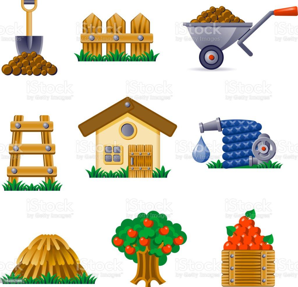 Pictogramms-Garden royalty-free stock vector art