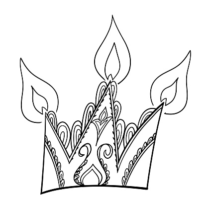 Pictograph of crown.