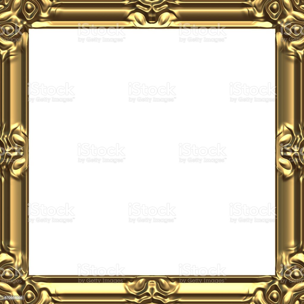 Picture Frames Gold Square Stock Vector Art & More Images of Antique ...
