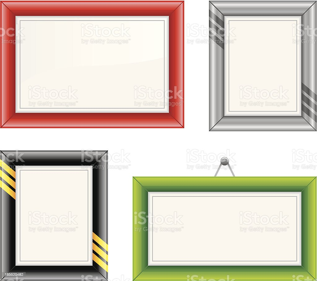 picture frames royalty-free stock vector art