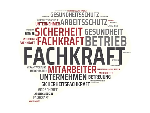 FACHKRAFT - ALLROUNDER - Pictures with words from the field of occupational safety, word, image, illustration