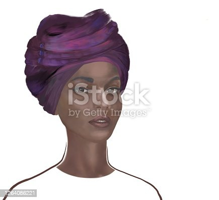 istock Picturesque portrait of a girl of African type Falashi 1264086221