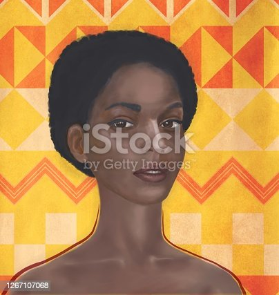 istock Picturesque portrait of a women of African type Falashi 1267107068