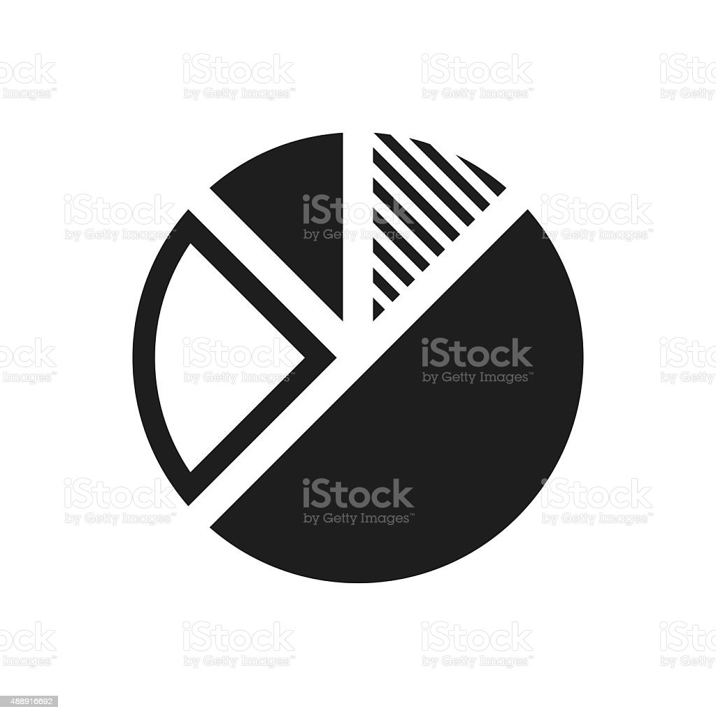 Pie Chart icon on a white background. vector art illustration