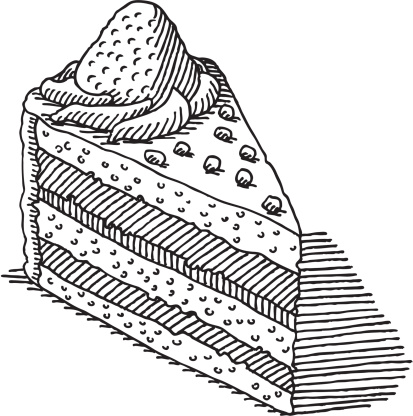 Piece Of Cake Drawing