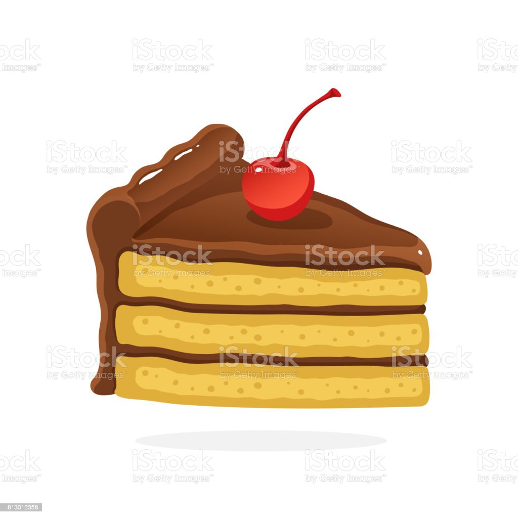 royalty free slice of cake clip art vector images illustrations rh istockphoto com slice of cake clipart black and white slice of cake clipart black and white