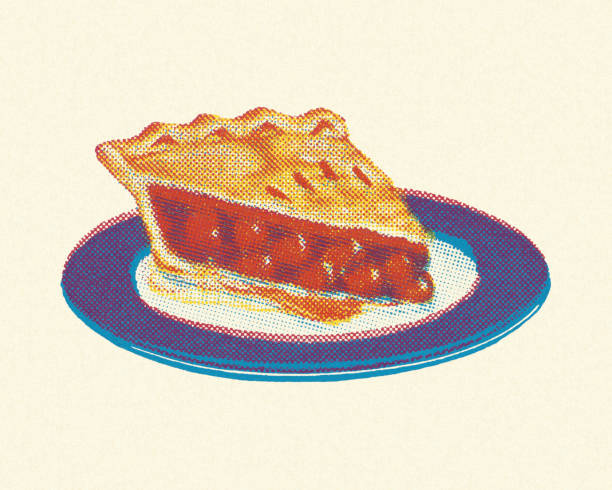 piece of cherry pie - pie stock illustrations, clip art, cartoons, & icons