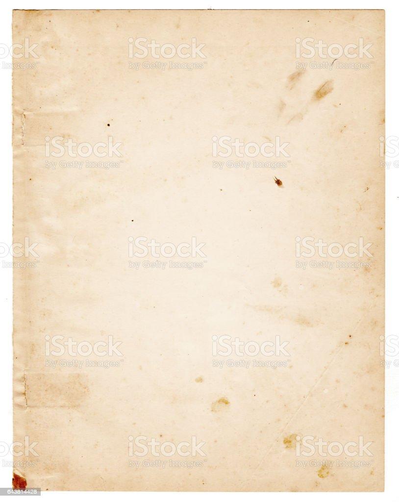 Piece of paper vector art illustration