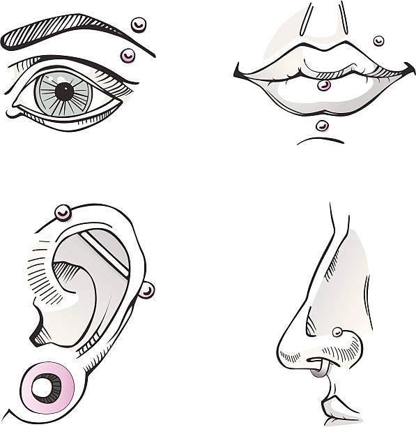 Nose Ring Illustrations, Royalty-Free Vector Graphics ...