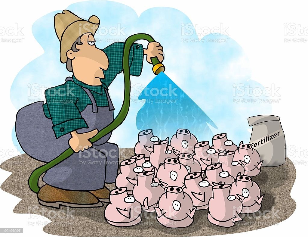 Pig Farmer royalty-free pig farmer stock vector art & more images of adult