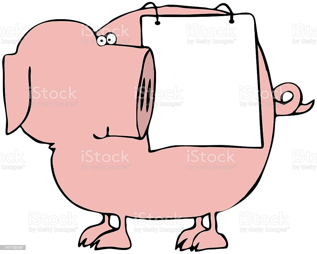 Pig Sign royalty-free pig sign stock vector art & more images of animal