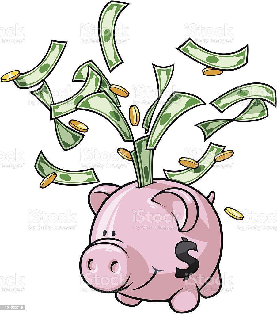Piggy Bank royalty-free stock vector art