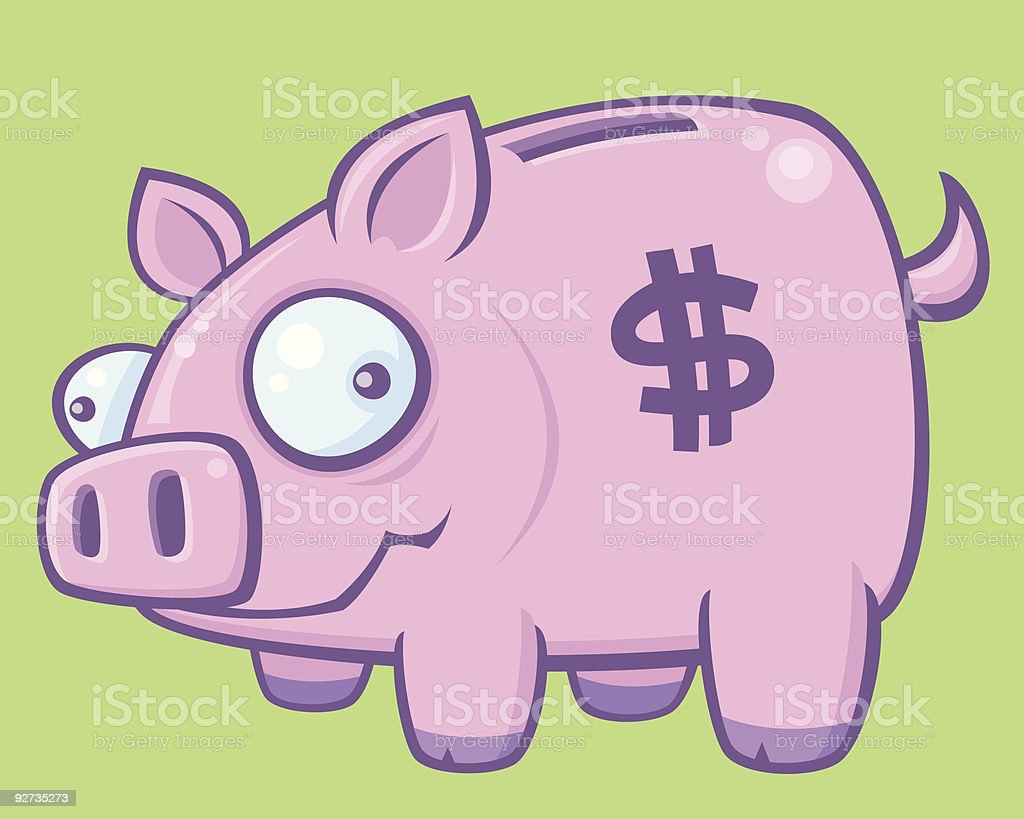 Piggy Bank vector art illustration