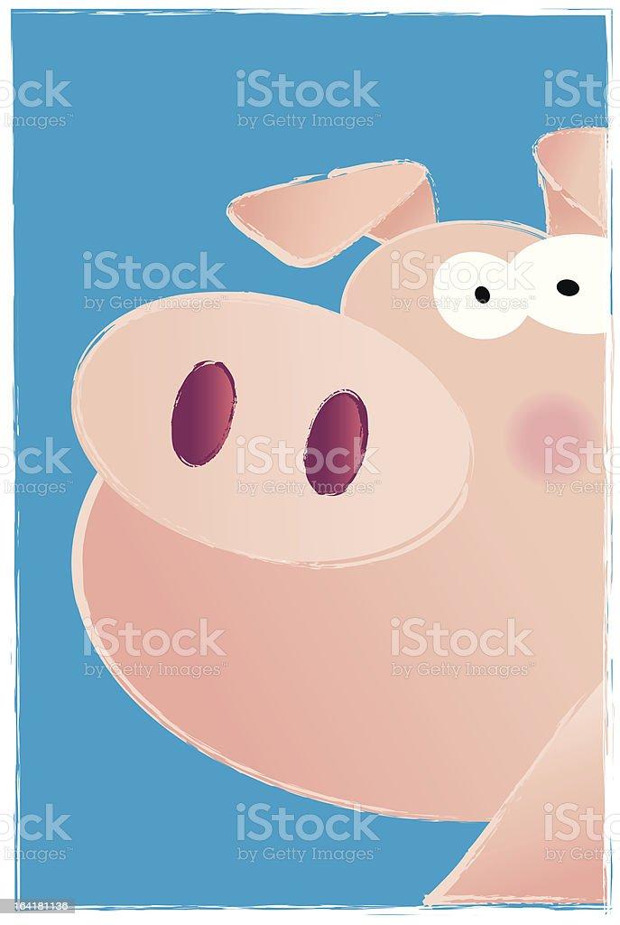Pigheaded Swine royalty-free stock vector art
