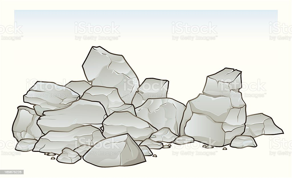 Pile of Rubble and Debris royalty-free stock vector art