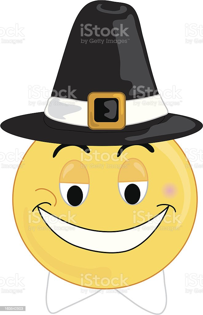 Pilgrim face royalty-free stock vector art