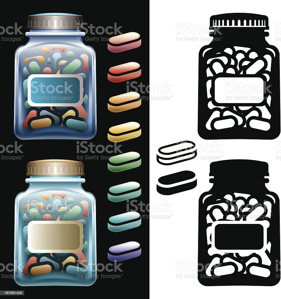 Pill Bottles royalty-free pill bottles stock vector art & more images of assistance